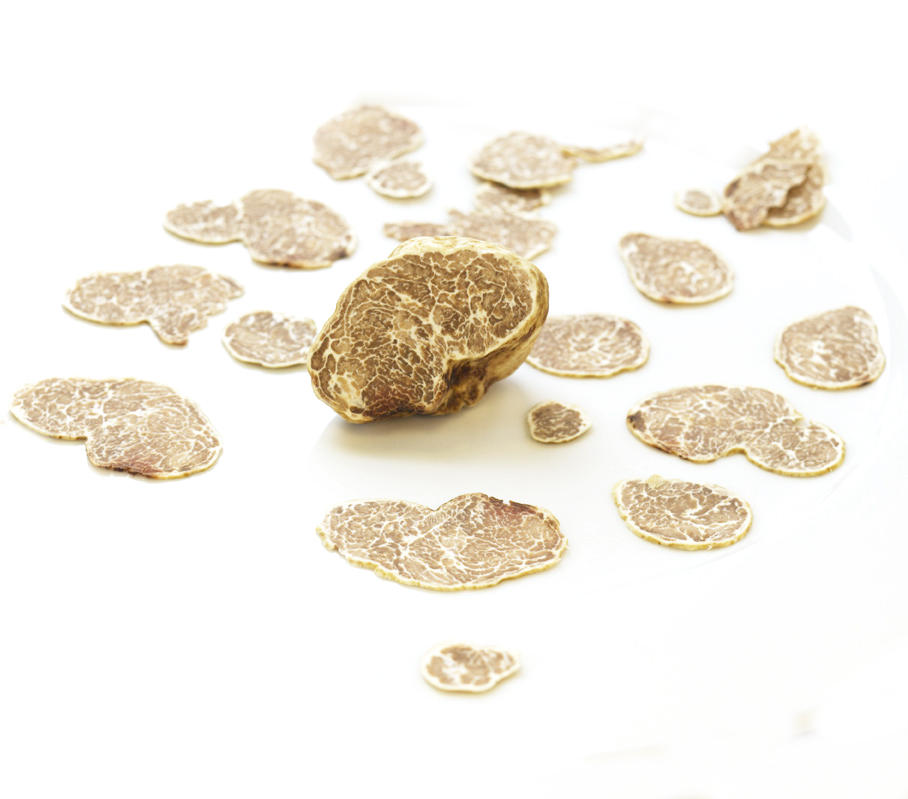 White truffle slices