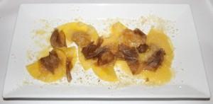 Ravioli di zucca, burro, Parmigiano e Tartufo Bianco D'Alba